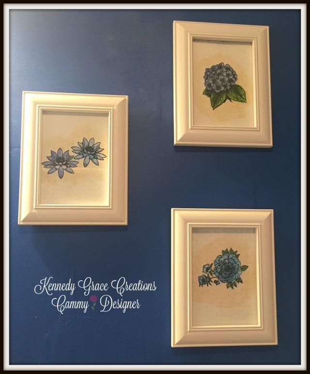 KGC Framed Floral Trio