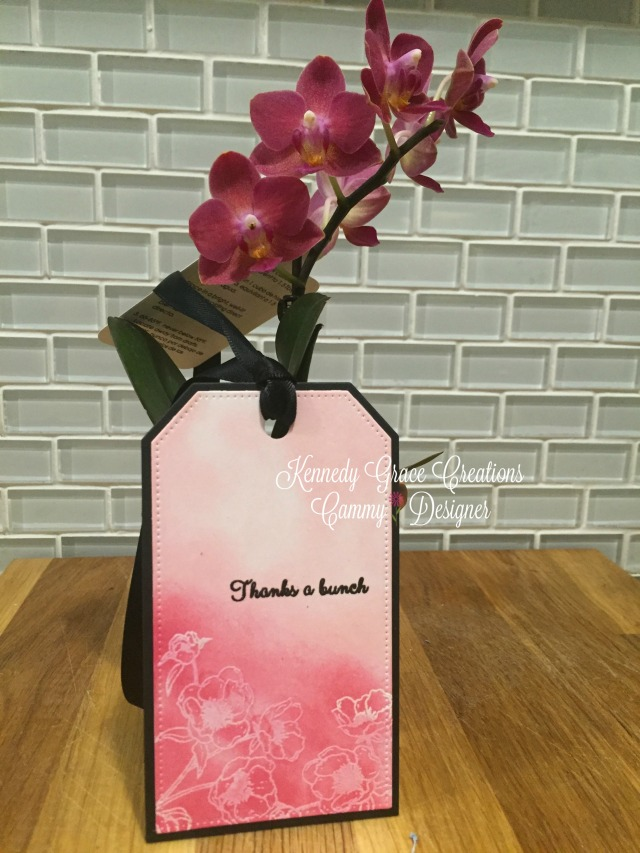 KGC Peachy Pink Orchid Tag