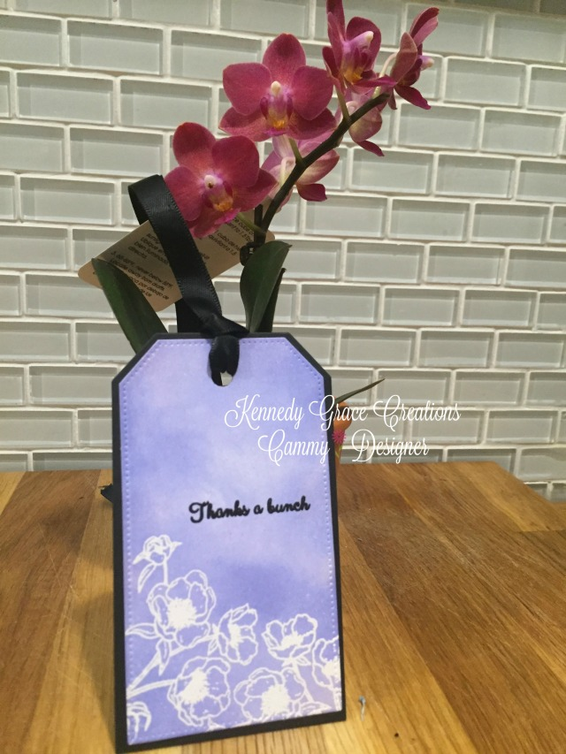 KGC Periwinkle Orchid Tag