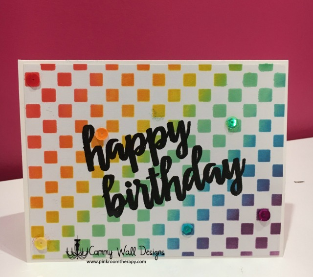 Rainbow Maker Stenciled Birthday